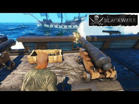 The BEST PIRATE  of ALL TIME! Ever! (Blackwake Pirate Ship Simulator Gameplay Part 2)
