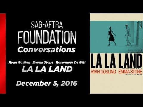 Conversations with Ryan Gosling, Emma Stone and Rosemarie DeWitt of LA LA LAND