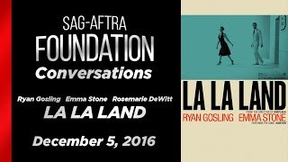 Conversations with Ryan Gosling, Emma Stone and Rosemarie DeWitt of LA LA LAND