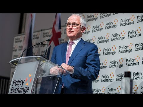 Australian Prime Minister Malcolm Turnbull speaks at Policy Exchange