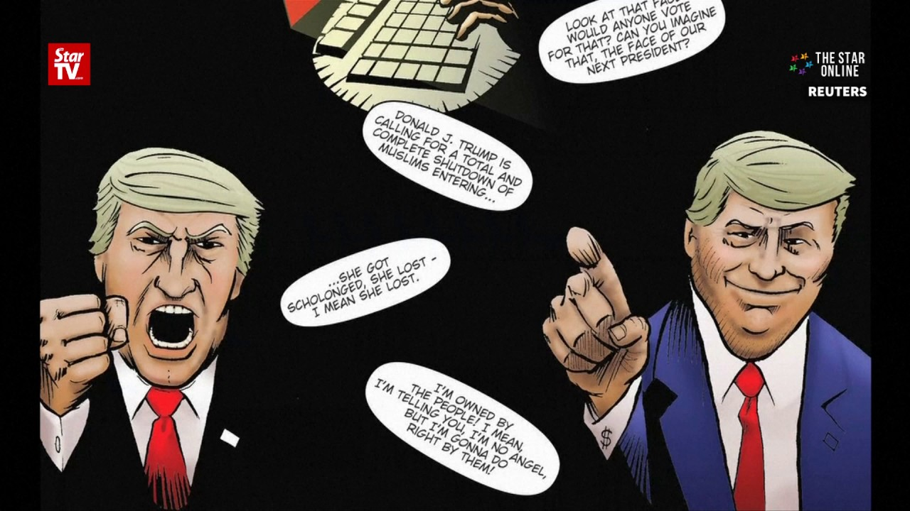 Donald Trump's political journey gets comic book treatment