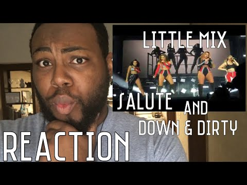 Little mix Salute/down and dirty mashup Live  5  June Denmark   REACTION 