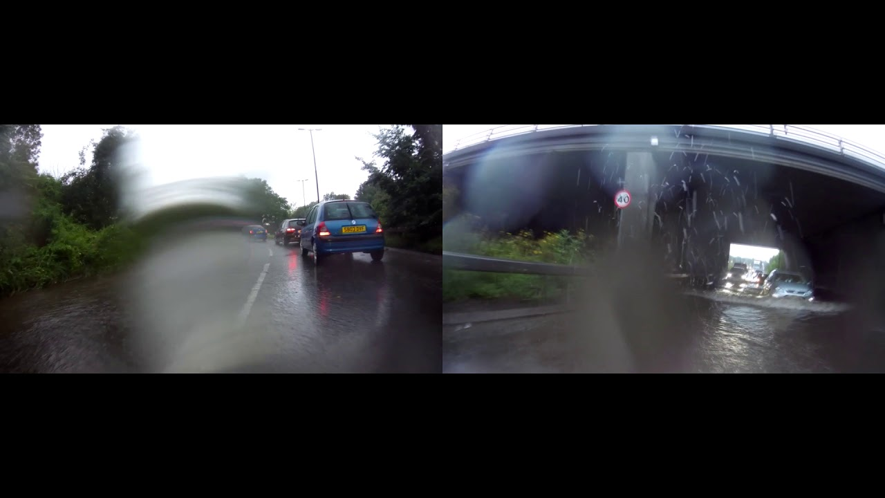 How good are the INNOVV motorcycle camera's in bad weather?
