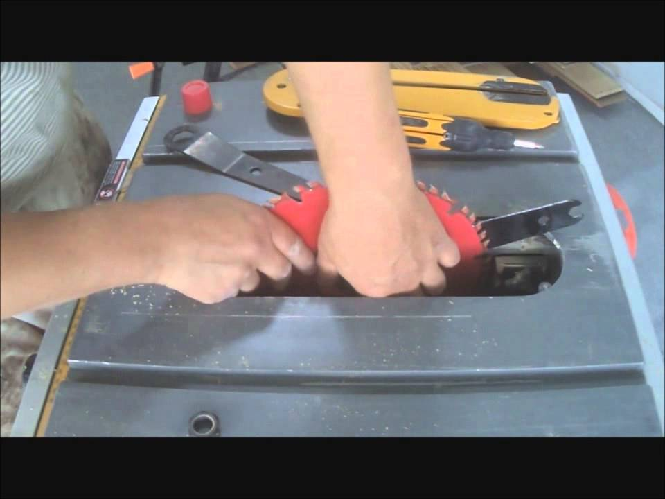 How To Change Blade On Dewalt Compact Table Saw Youtube