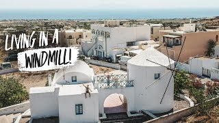 Gambar cover SANTORINI WINDMILL AIRBNB HOME TOUR! + Exploring Oia and Delicious Greek Dessert