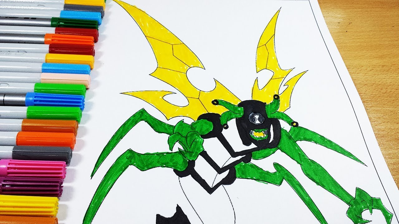 Coloring Pages Ben 10 Stinkfly - Coloring Videos Ben 10 Coloring ...