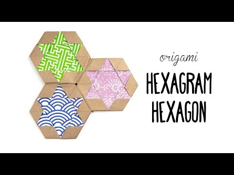 Origami Hexagram Tiles/Coaster ✡ Star of David ✡ Paper Kawaii