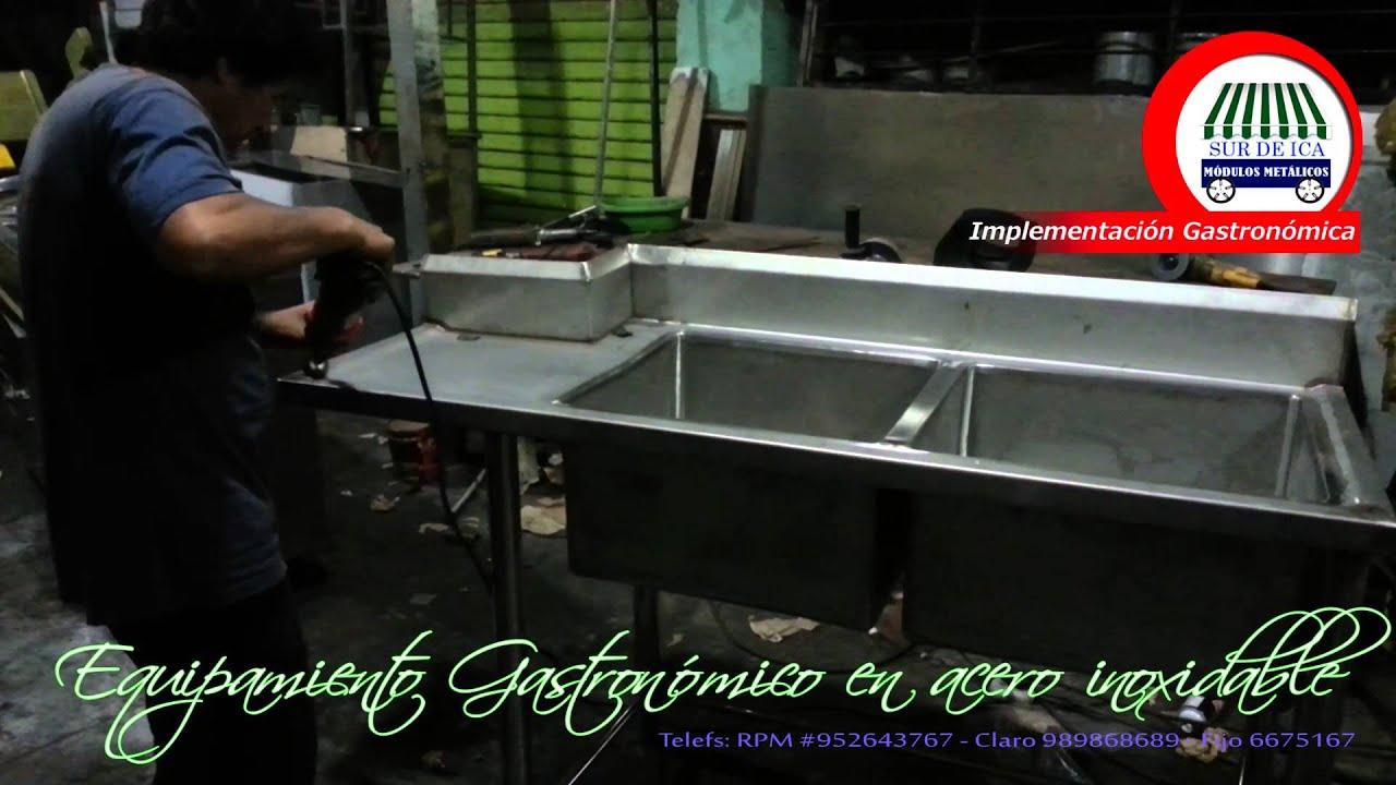 Fabricaci n de lavaderos de acero inoxidable doovi for Lavaderos record