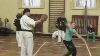 Oyama Karate trening juniorów 2011- instruktor sensei Artur Niezgoda- Ronin Żagań