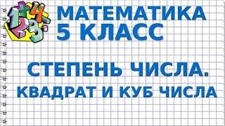МАТЕМАТИКА 5 класс. СТЕПЕНЬ ЧИСЛА. КВАДРАТ И КУБ ЧИСЛА