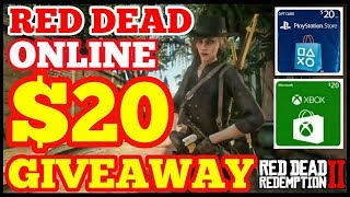 $20 Gift Card Giveaway Showdown Series Red Dead Redemption 2 Online