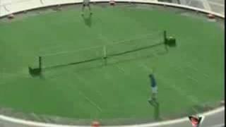 burj Al Arab Dubai Agassi vs Federrer
