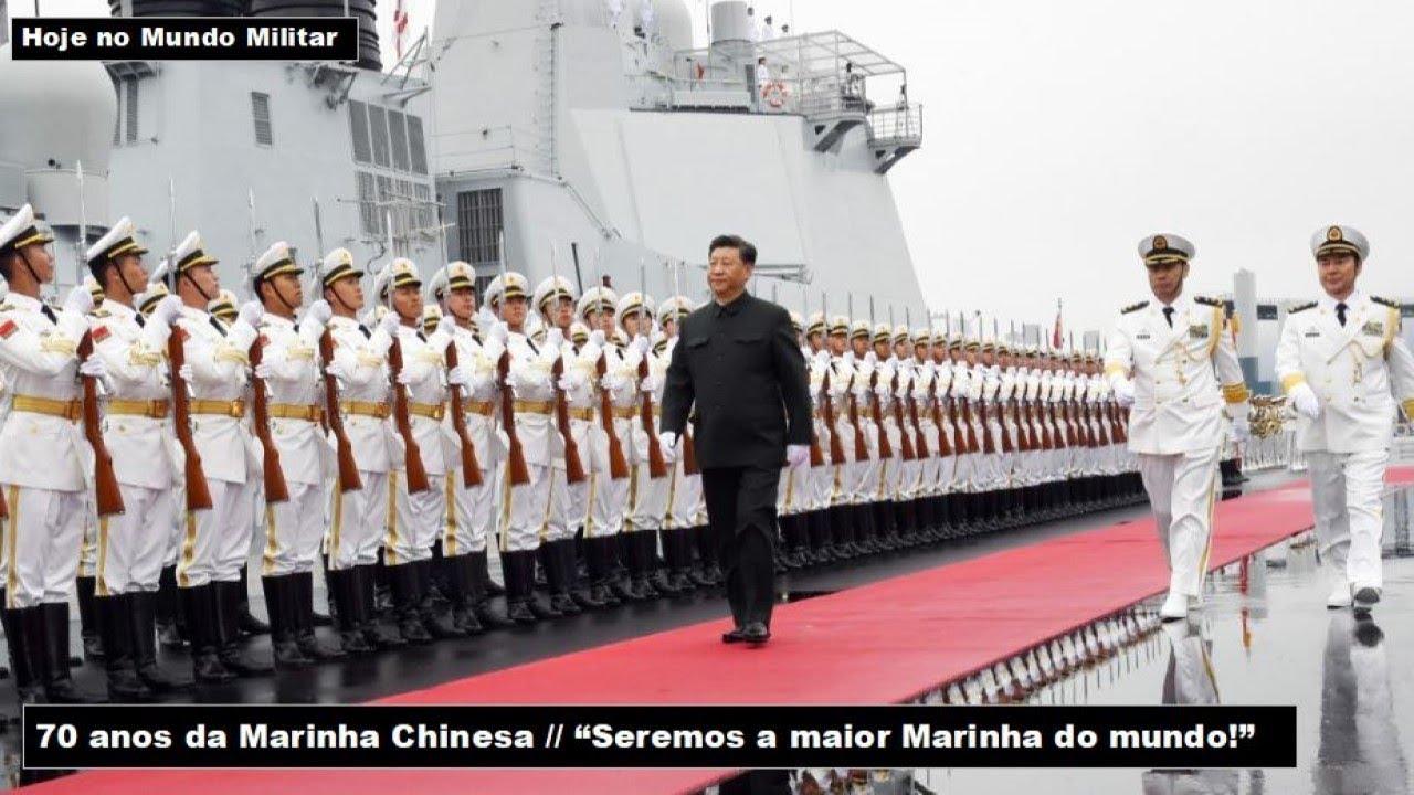 """70 anos da Marinha Chinesa - """"Seremos a maior Marinha do mundo!"""""""