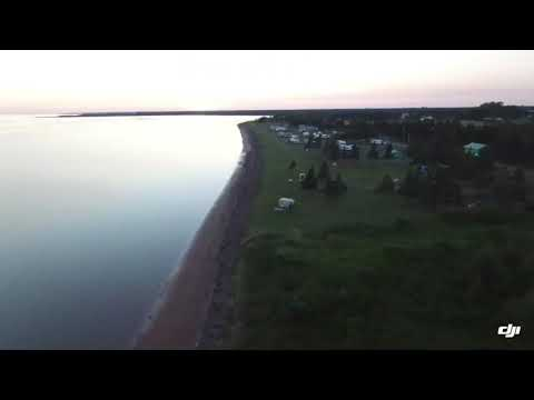 Linkletter Provincial Campground, Prince Edward Island - drone sunset