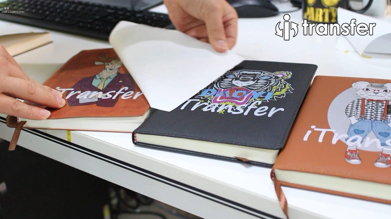 i transfer laser heat transfer paper pu pvc leather customized on notebook youtube. Black Bedroom Furniture Sets. Home Design Ideas