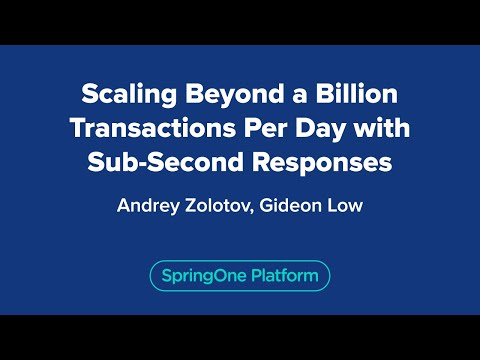 Scaling Beyond a Billion Transactions Per Day with Sub-Second Responses