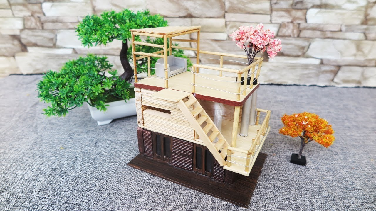 Building Popsicle Stick House Without