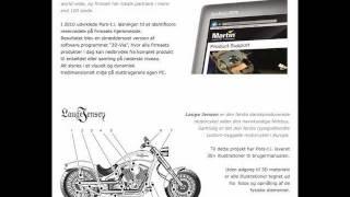 Pors teknisk illustration reklamefolder