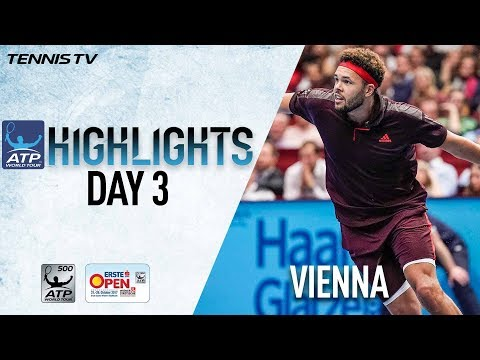 Highlights: Tsonga, Zverev Advance Wednesday In Vienna 2017