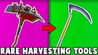 TOP 5 RAREST HARVESTING TOOLS in Fortnite! (0.003% of people have these pickaxes)