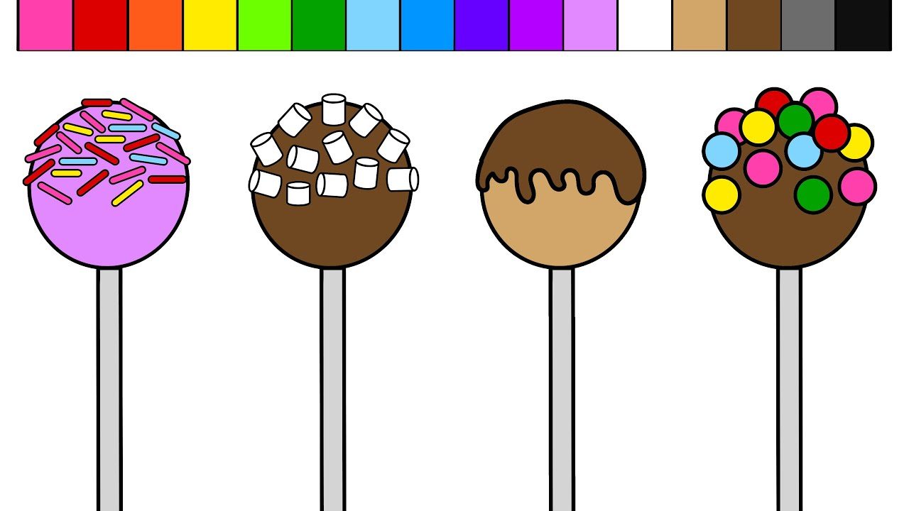 cake pop coloring pages - photo#4