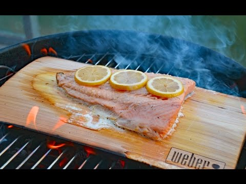SMOKED SALMON - How To Smoke On Cedar Plank - By Customgrills