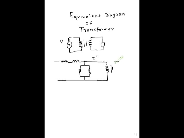 Phasor Diagram And Equivalent Circuit Of A Single Phase Transformers
