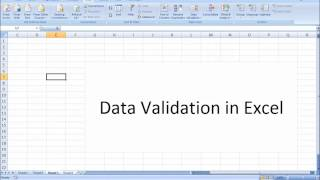 Data Validation in Excel in Tamil |  - Data Validation in Tamil (Excel in Tamil)