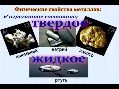 Уроки химии. §9, 9 кл. Физические свойства металлов.
