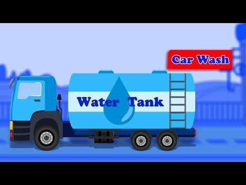 Water Tanker Wash | Kids Car Wash | City Vehicle | Learn Truck