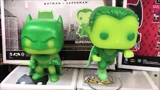 DC Comics Batman VS Superman Glow in the Dark Funko pop Toxic Walmart Exclusive 2 Pack Detailed Look