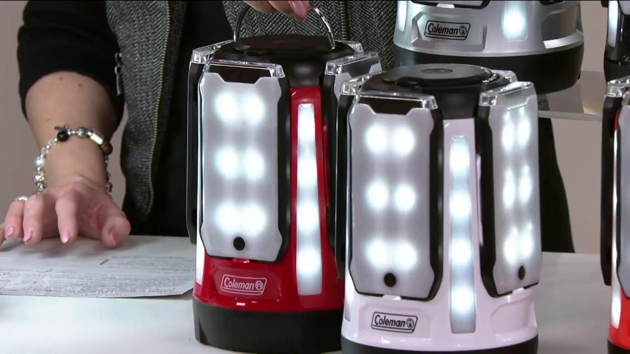 Coleman LED Quad Pro Hi/Med/Low Lantern w/ Magnetic Panels on QVC