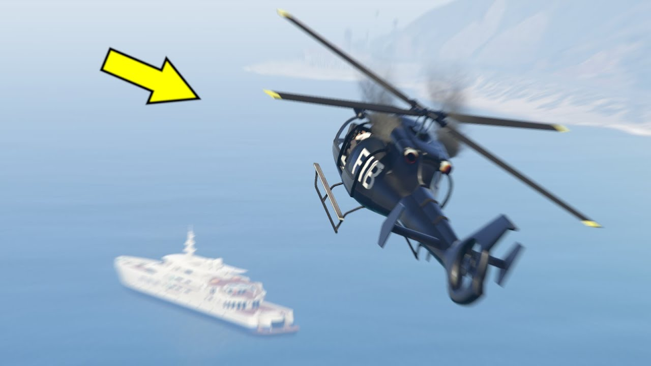 Helicopter Crash in Water in GTA 5 (Crocodile Attack Helicopter) Engines Failure