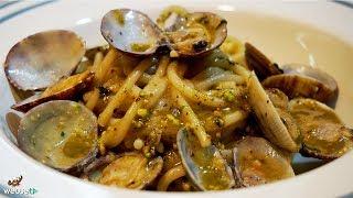 486 - Spaghetti vongole e pesto di pistacchi...e ti passano gli acciacchi! (pasta di pesce estiva)