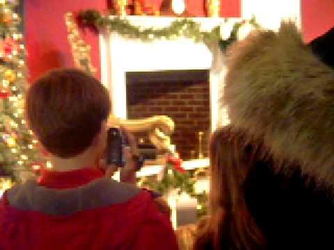 Santa coming down the Chimney - YouTube