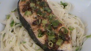 Steamed Halibut Fillets Chinese Style