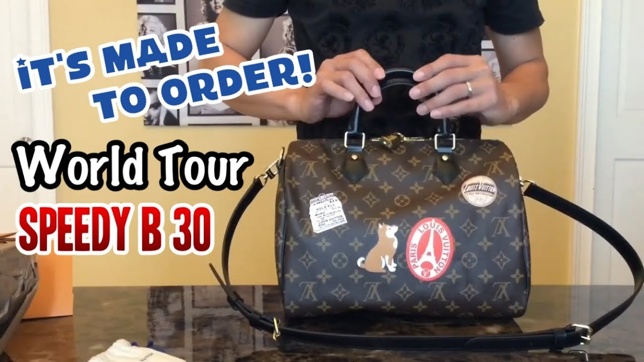 5818217fd979 Louis Vuitton My LV World Tour Speedy Bandouliere 30. It s made to order!