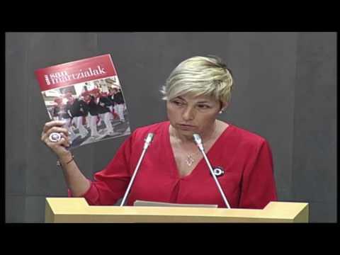 Maria Valiente interpela a Markel Olano sobre el Alarde de Irun 6 jun 2017