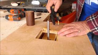 Simple homemade spindle sander drill powered