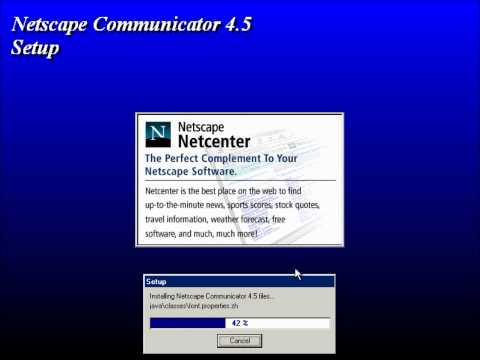 Installing Netscape Communicator 4.5 on Microsoft Whistler Build 2296