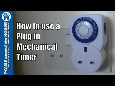 How To Use A Plug In Mechanical Timer. Electronic Plug In Timer Tutorial.