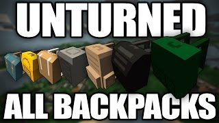 Unturned: Gameplay of Every Backpack (Best and Worst Backpacks)