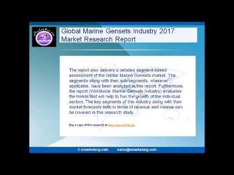 Marine Gensets Market Analysis in Global Industry: Demands, Insights, Research