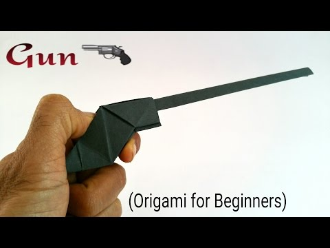 "How to make a paper ""🔫 Gun / Pistol"" - Origami tutorials for Beginners"