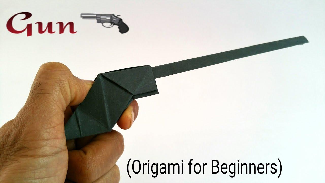 how to make a paper quot��� gun pistolquot origami tutorials