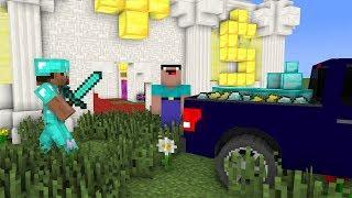 Minecraft NOOB vs PRO: SECRET BANK ROBBERY Challenge in Minecraft / Animation