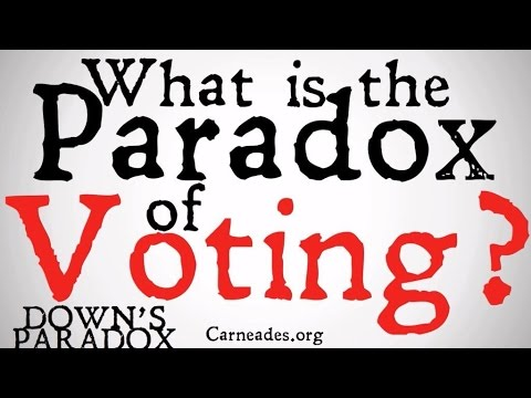 What is the Paradox of Voting? (Downs' Paradox)