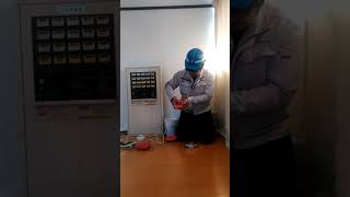 発信機とリング型表示灯(リング型表示灯内蔵の小型総合盤を分解) automatic fire alarm equipment~小林消防設備 福岡県豊前市 全類消防設備士 第二種電気工事士 経営学修士~