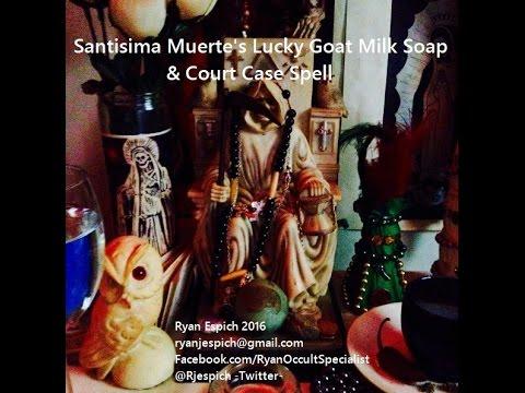 Sunday's With Satan! La Santisima Muerte's Lucky Goat Milk Soap + Court  Case Spell
