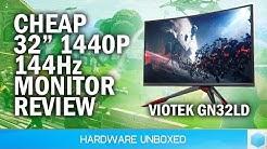 """Cheap 32"""" 1440p 144Hz Gaming Monitor: Viotek GN32LD Review"""